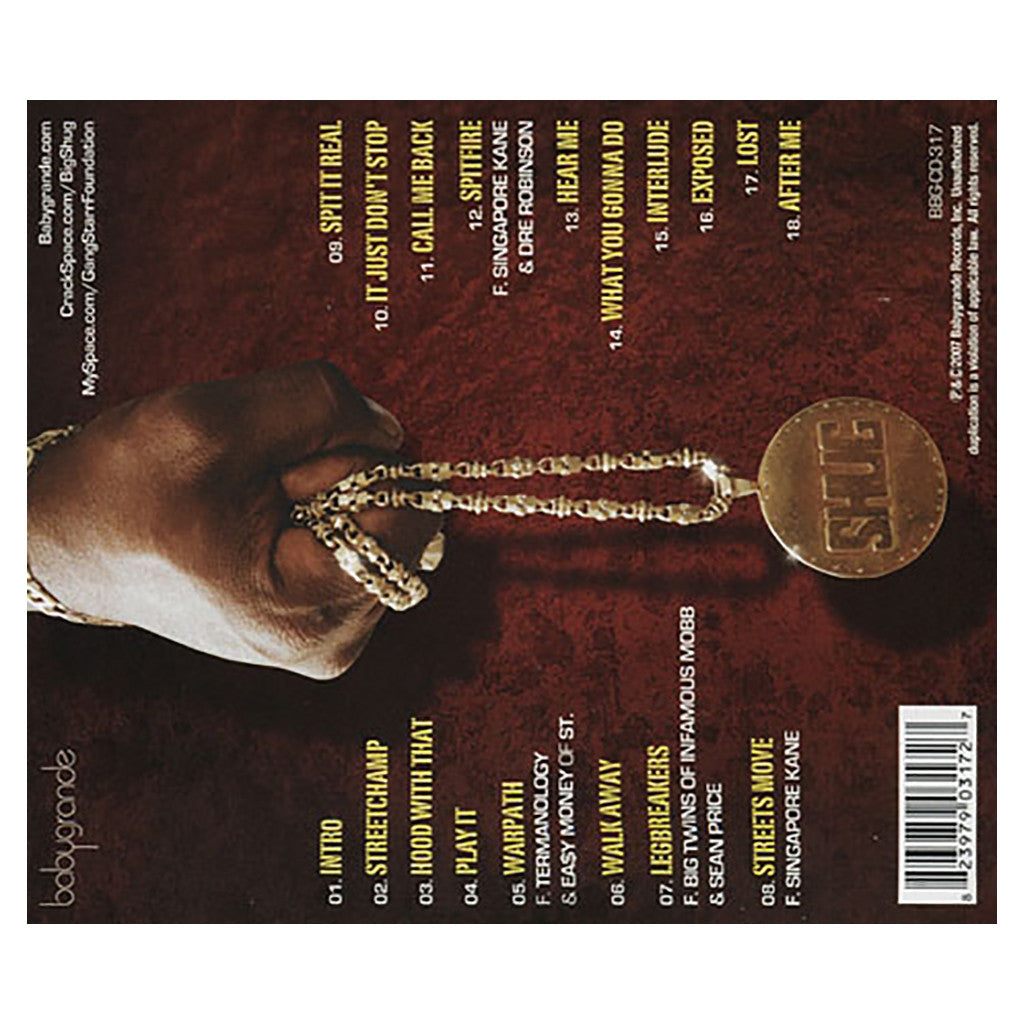 <!--020070717009974-->Big Shug - 'Street Champ' [CD]