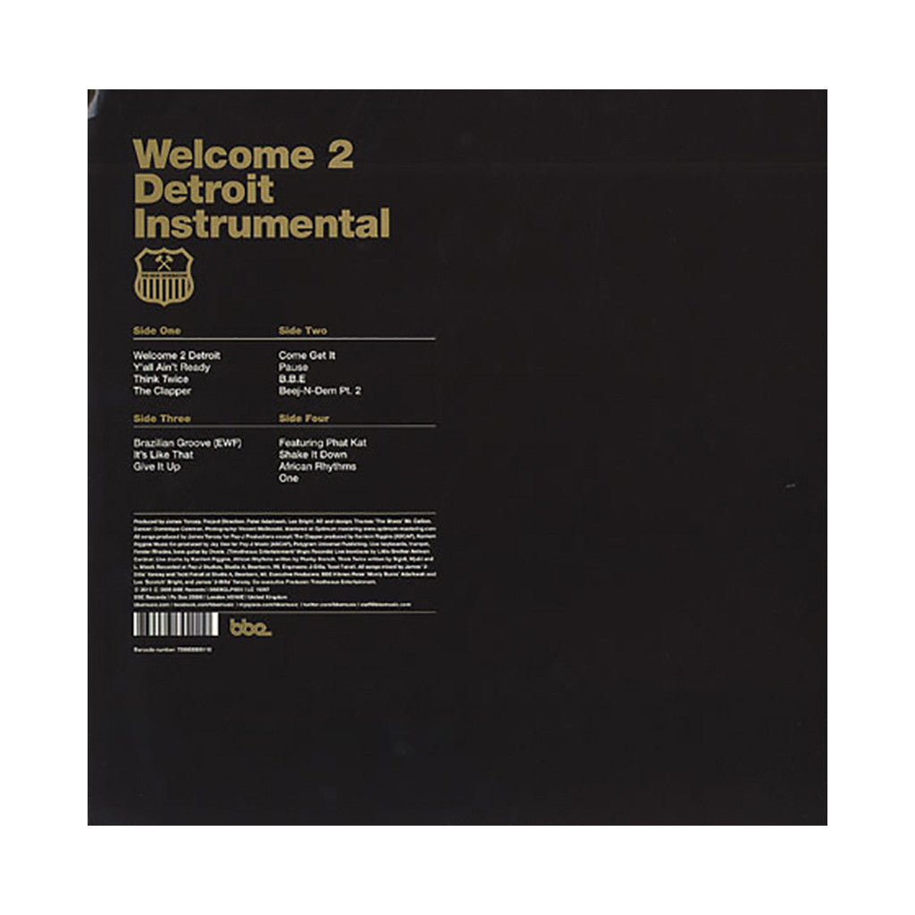 <!--120111115002937-->Jay Dee - 'Welcome 2 Detroit: 10th Anniversary Edition (Instrumentals)' [(Black) Vinyl [2LP]]