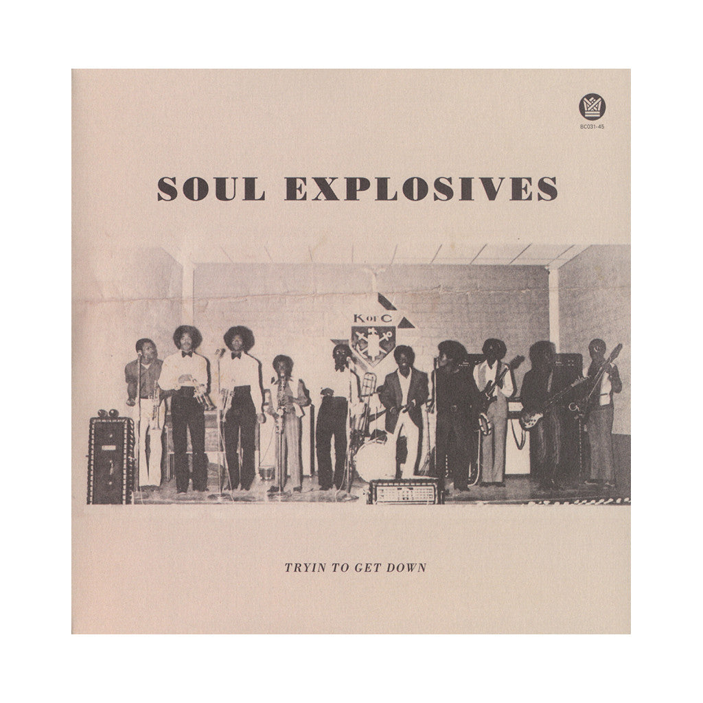 "Soul Explosives - 'Tryin' To Get Down/ Ain't No Sunshine' [(Black) 7"" Vinyl Single]"