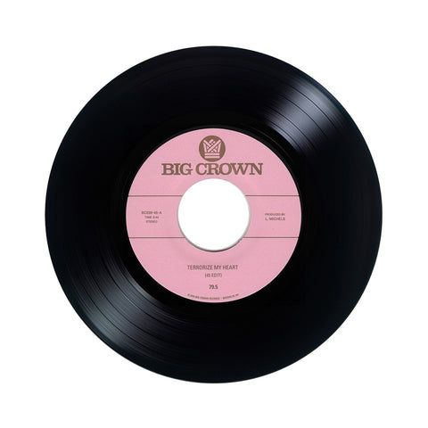 "[""79.5 - 'Terrorize My Heart/ Terrorize My Heart (Disco Dub)' [(Black) 7\"" Vinyl Single]""]"