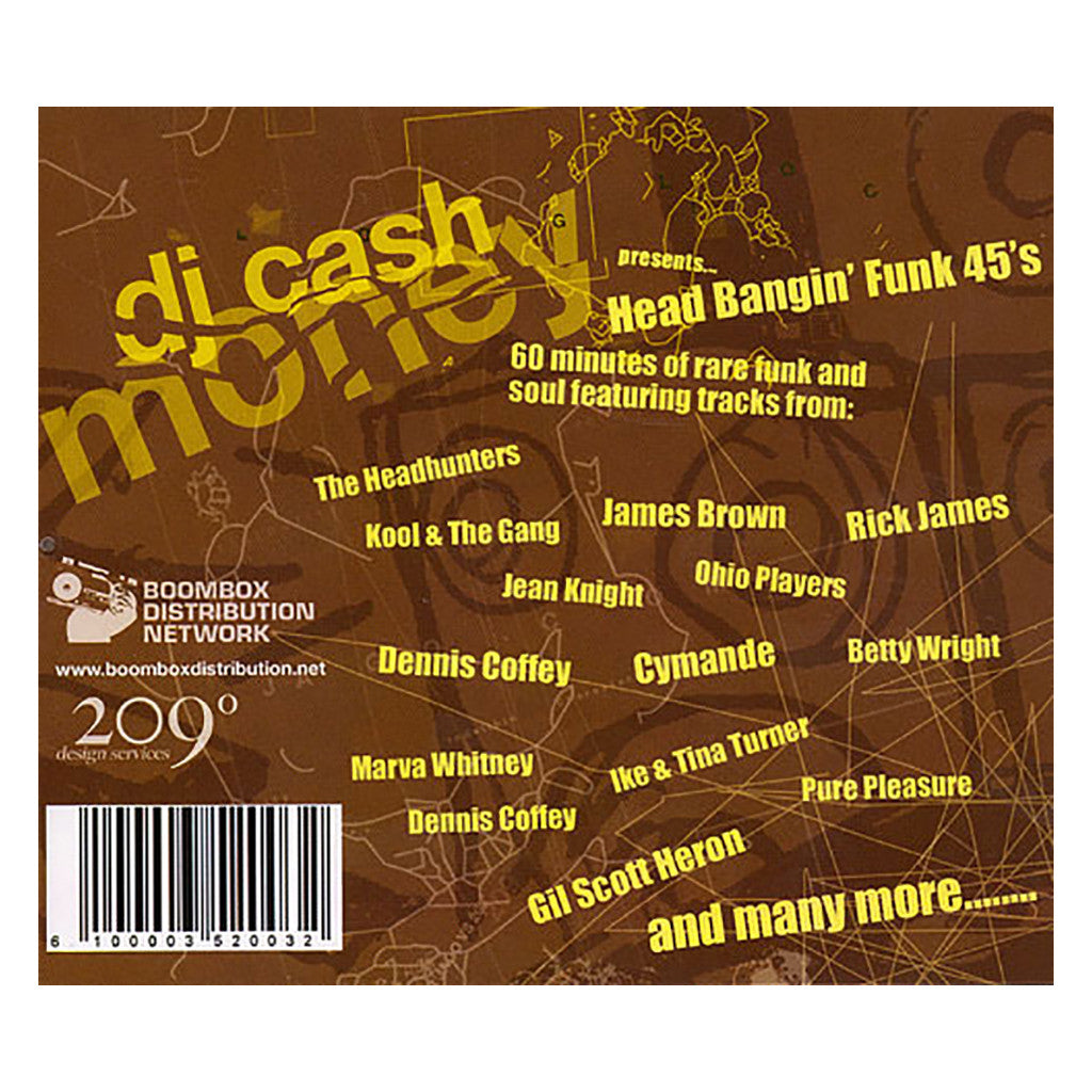 <!--020080429013714-->Cash Money - 'Head Bangin' Funk 45's' [CD]