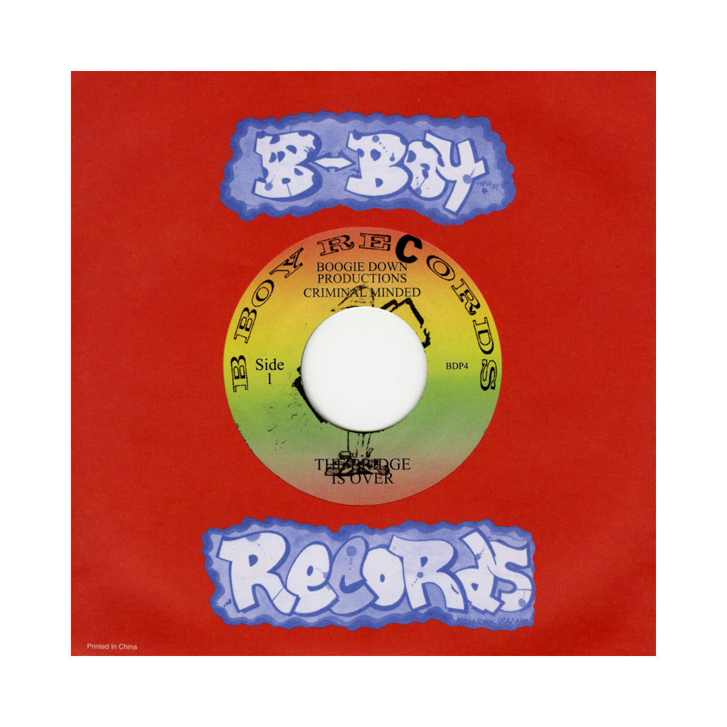 "Boogie Down Productions  - 'The Bridge Is Over/ Remix For P Is Free' [(Black) 7"" Vinyl Single]"