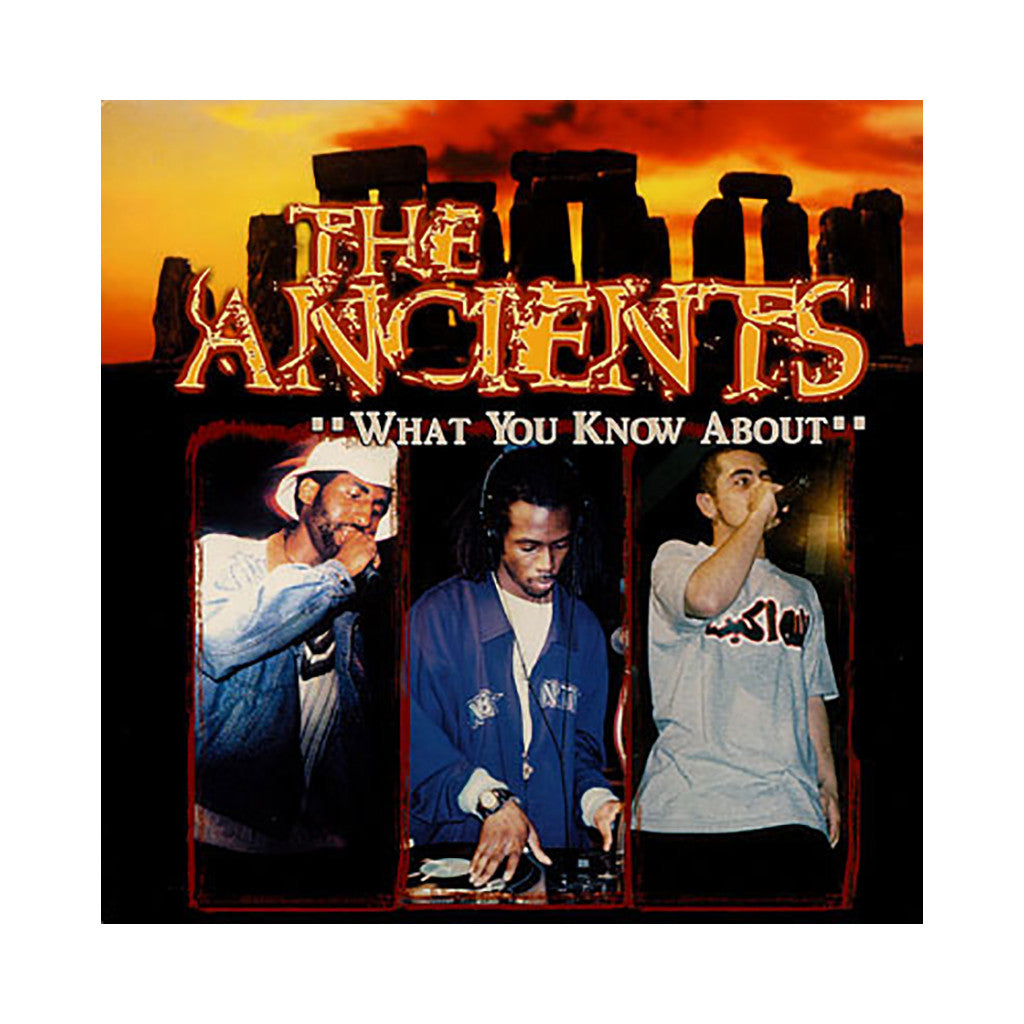 "<!--020010417016028-->The Ancients - 'What You Know About/ 20 20' [(Black) 12"" Vinyl Single]"
