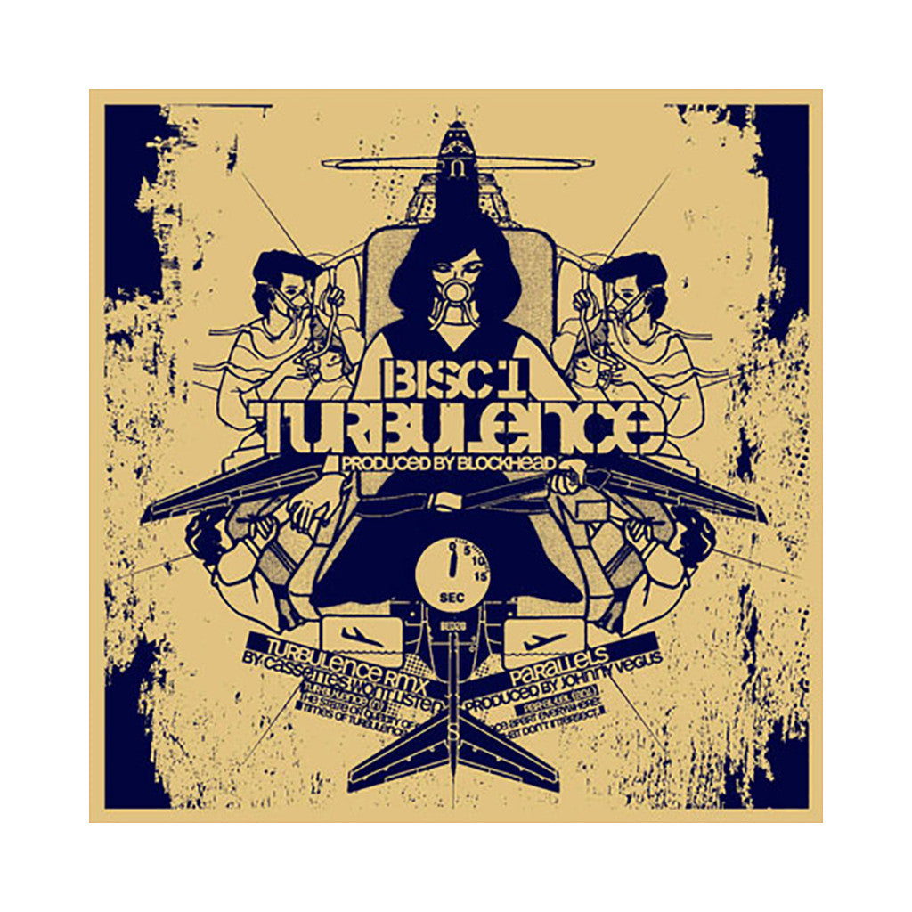 "<!--020080115011349-->Bisc 1 - 'Turbulence/ Turbulence (Remix)/ Parallels' [(Black) 12"""" Vinyl Single]"