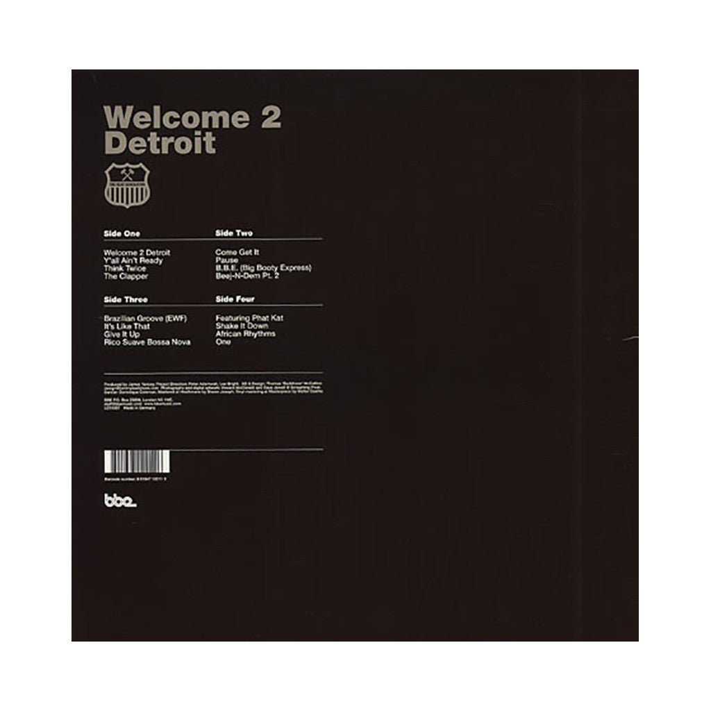 <!--120010313009212-->Jay Dee - 'Welcome 2 Detroit' [(Black) Vinyl [2LP]]