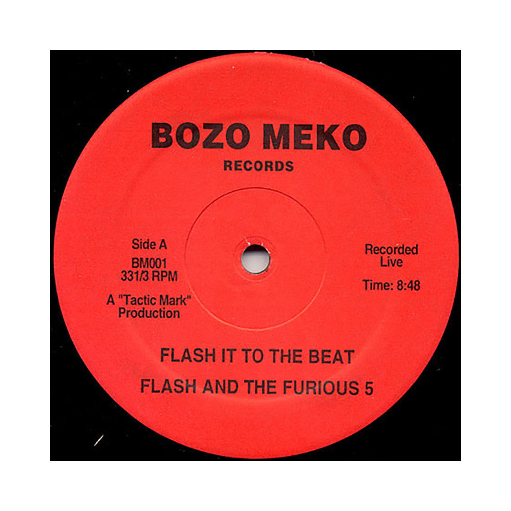 "Grandmaster Flash & The Furious Five - 'Flash It To The Beat/ Fusion Beats Vol. 2' [(Black) 12"" Vinyl Single]"
