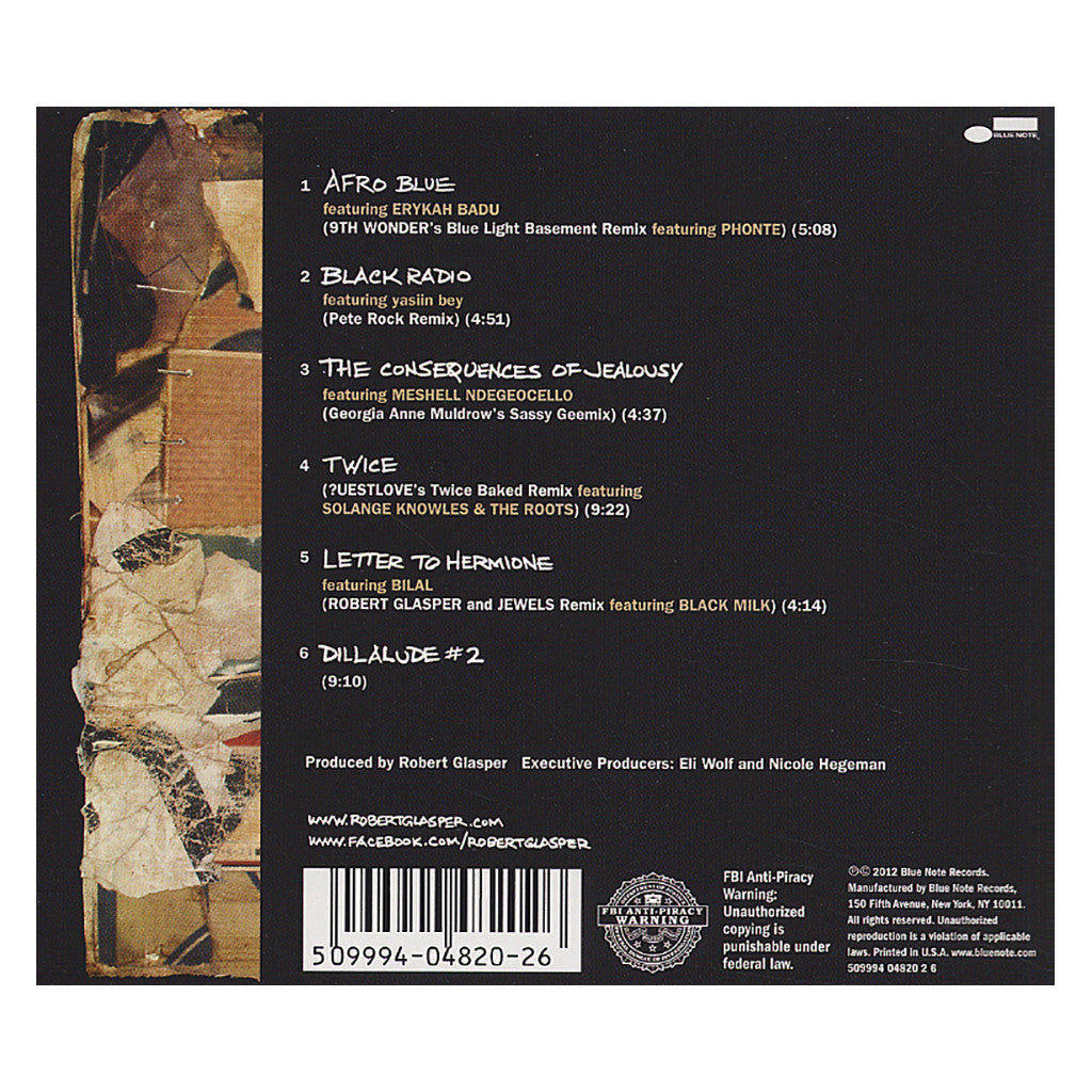 <!--2012100911-->Robert Glasper Experiment - 'Black Radio Recovered: The Remix EP' [CD]