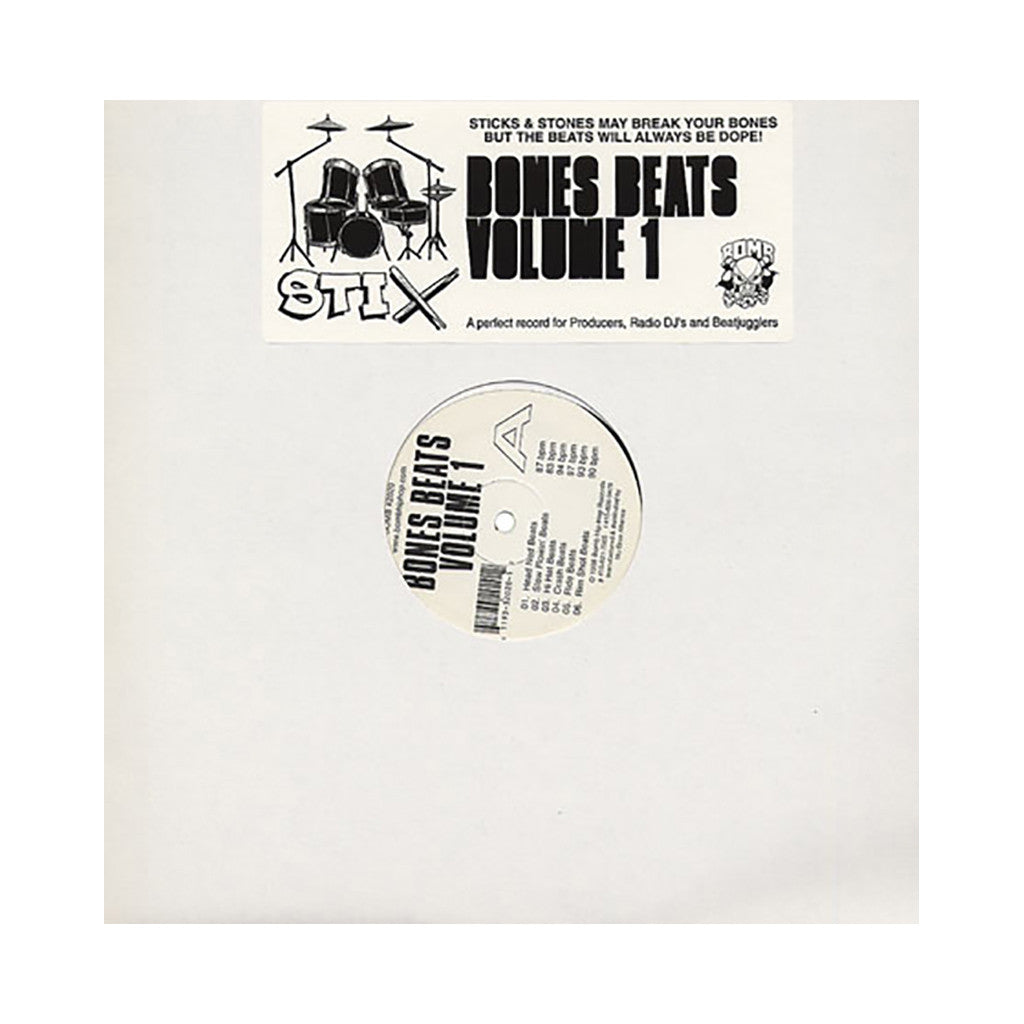 <!--019980106011550-->Stix Bones - 'Bones Beats Vol. 1' [(Black) Vinyl LP]