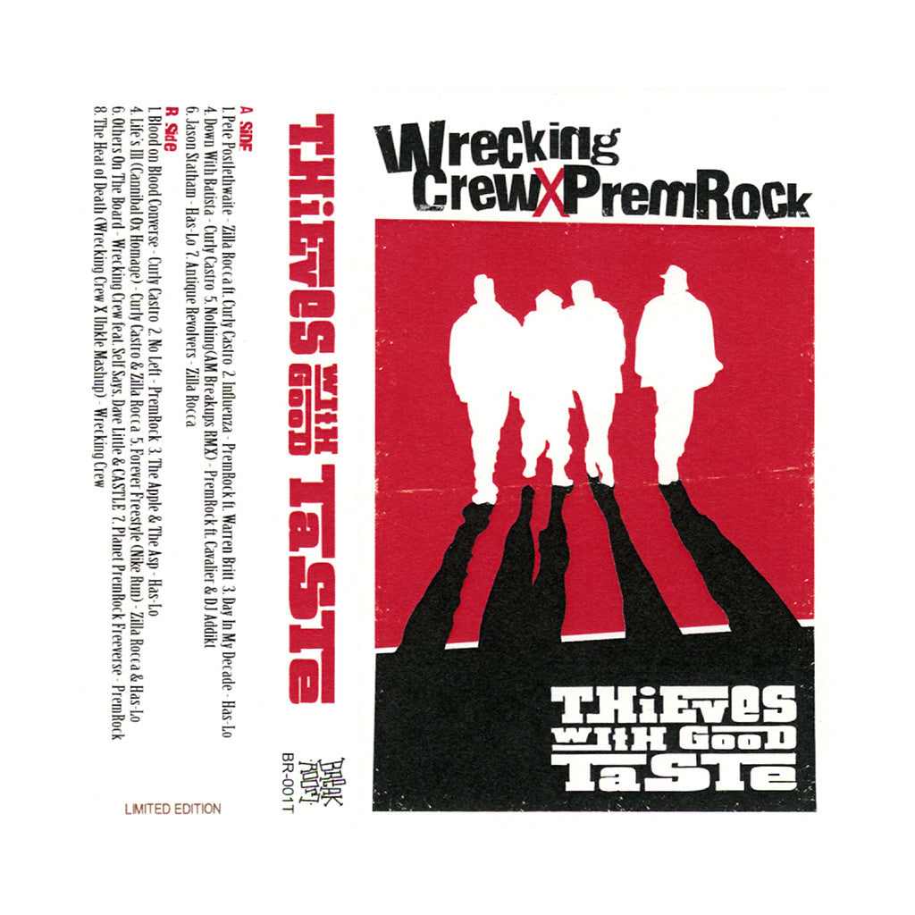 <!--2013102957-->Wrecking Crew x PremRock - 'Thieves With Good Taste' [(Red) Cassette Tape]