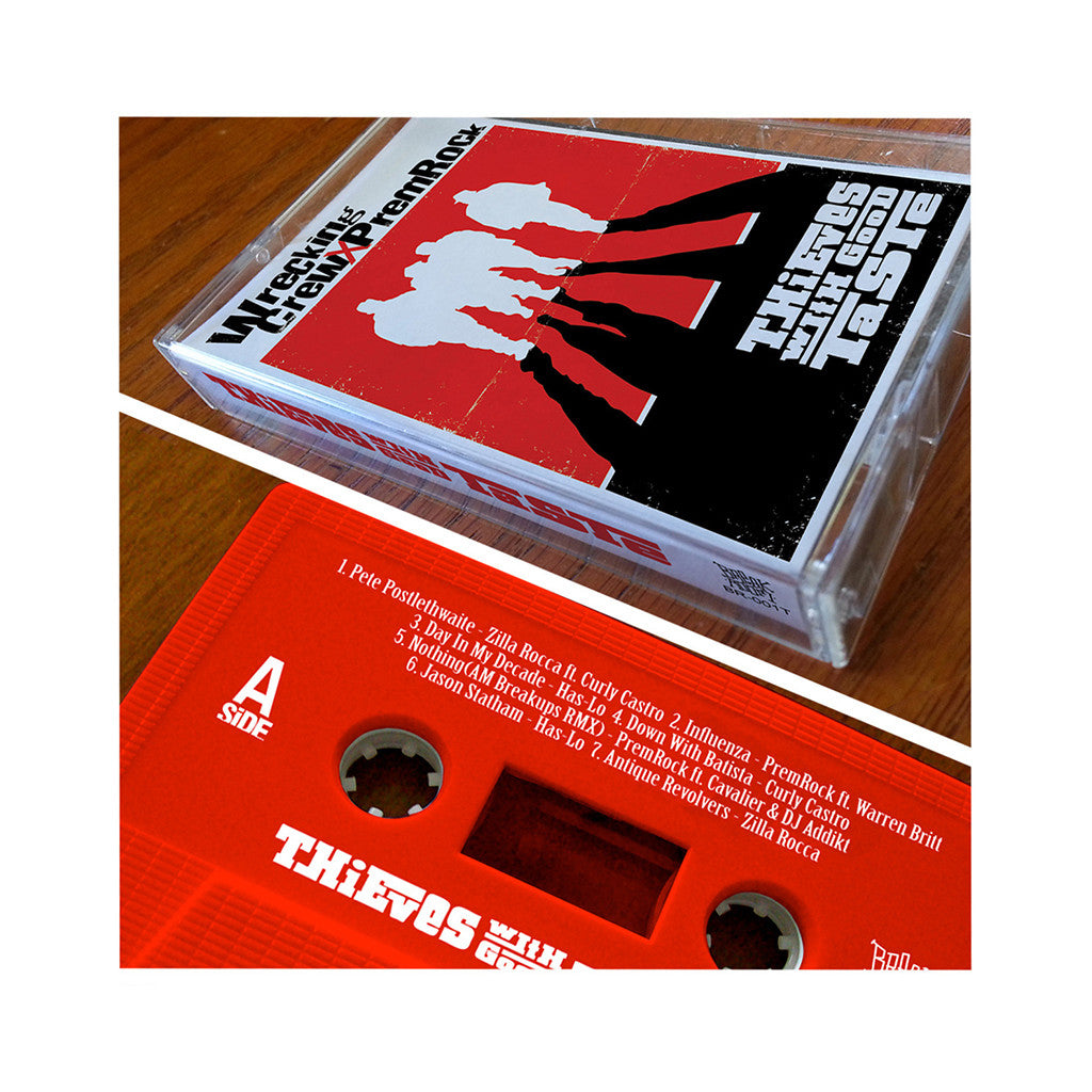 <!--020131029061757-->Wrecking Crew x PremRock - 'Thieves With Good Taste' [(Red) Cassette Tape]