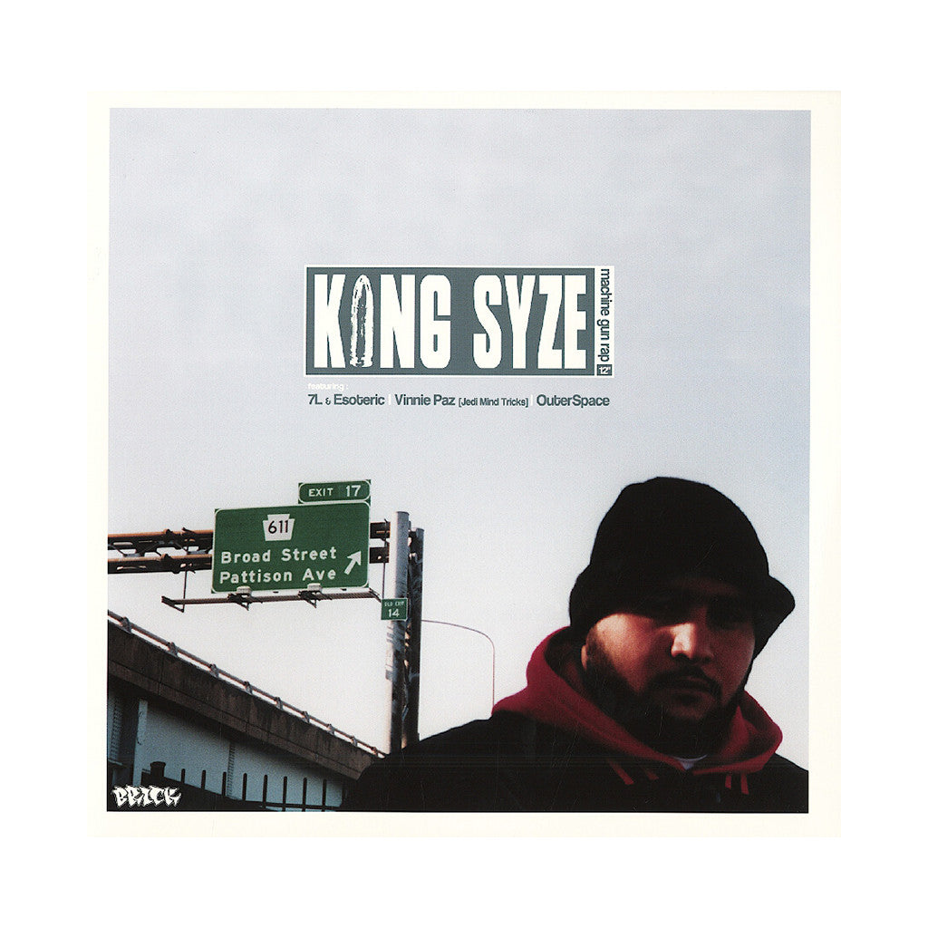 "<!--020030916012030-->King Syze - 'Machine Gun Rap/ Blitz Inc./ Sibling Rivalry' [(Black) 12"" Vinyl Single]"