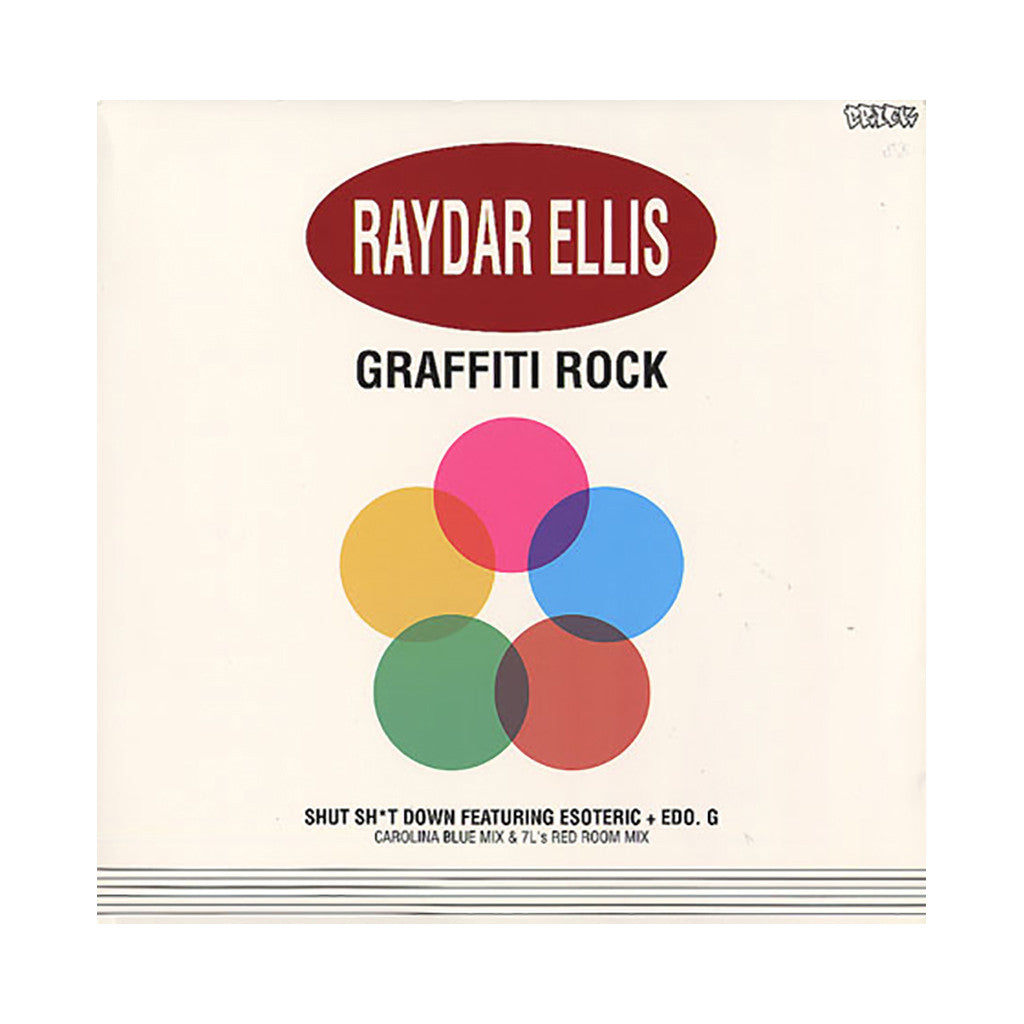 "<!--120060411007082-->Raydar Ellis - 'Graffiti Rock/ Shut Shit Down (Carolina Blue Mix)/ Shut Shit Down (7L's Red Room Mix)' [(Black) 12"" Vinyl Single]"
