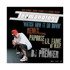 "Termanology - 'Watch How It Go Down (Remix)/ Far Away' [(Black) 12"" Vinyl Single]"