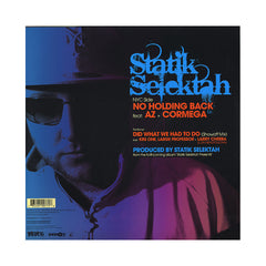 "Statik Selektah - 'Hardcore (So You Wanna Be)/ Did What We Had To Do/ No Holding Back' [(Black) 12"" Vinyl Single]"