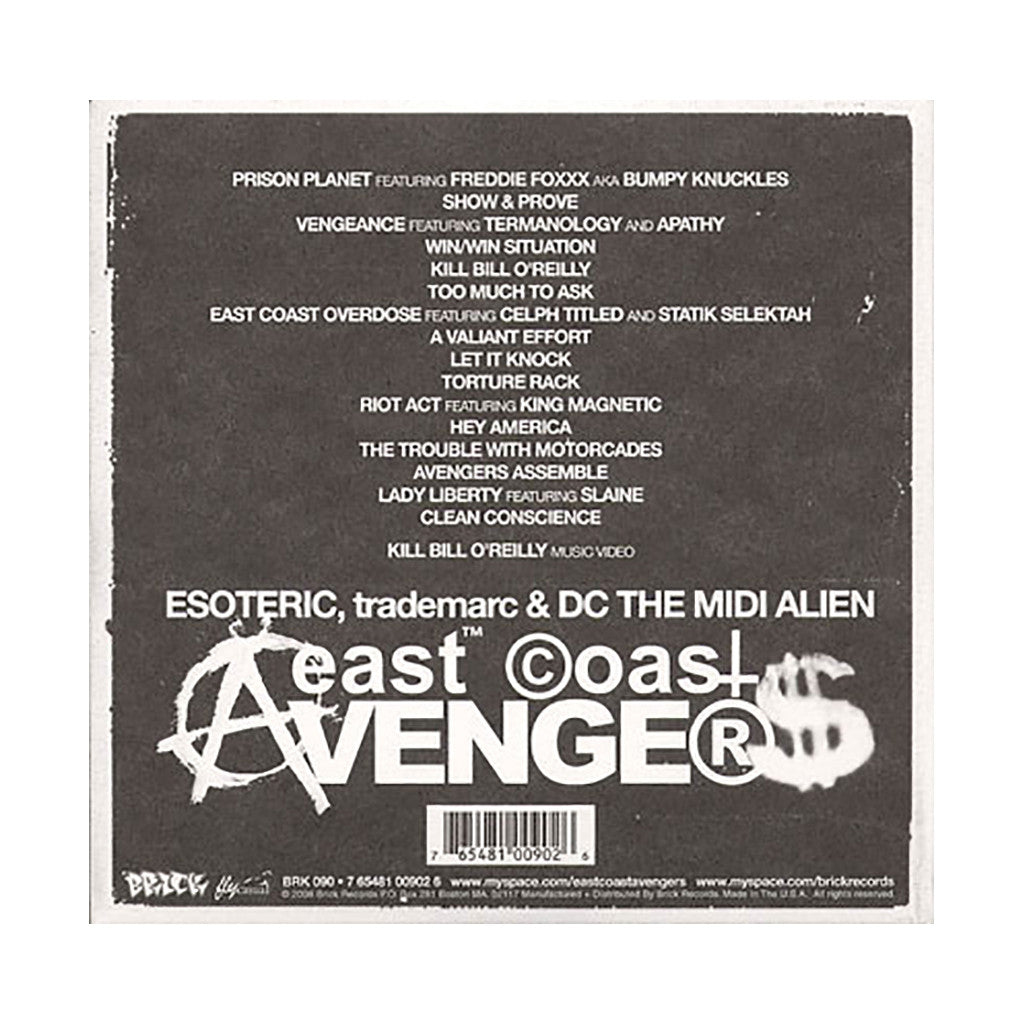 East Coast Avengers - 'Prison Planet' [CD]