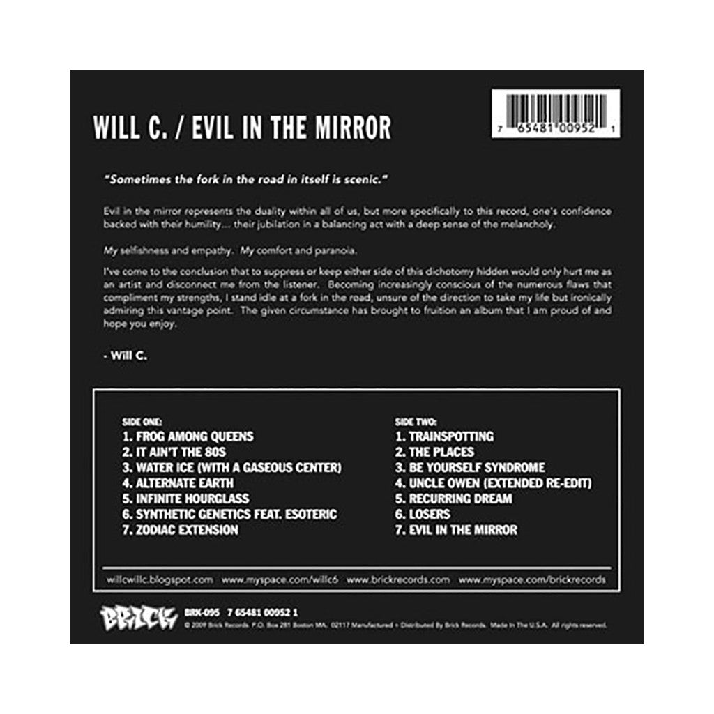 Will C. - 'Evil In The Mirror' [CD]