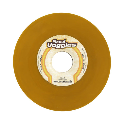 "Mega Ran & Storyville - 'React/ Another World' [(Yellow) 7"" Vinyl Single]"