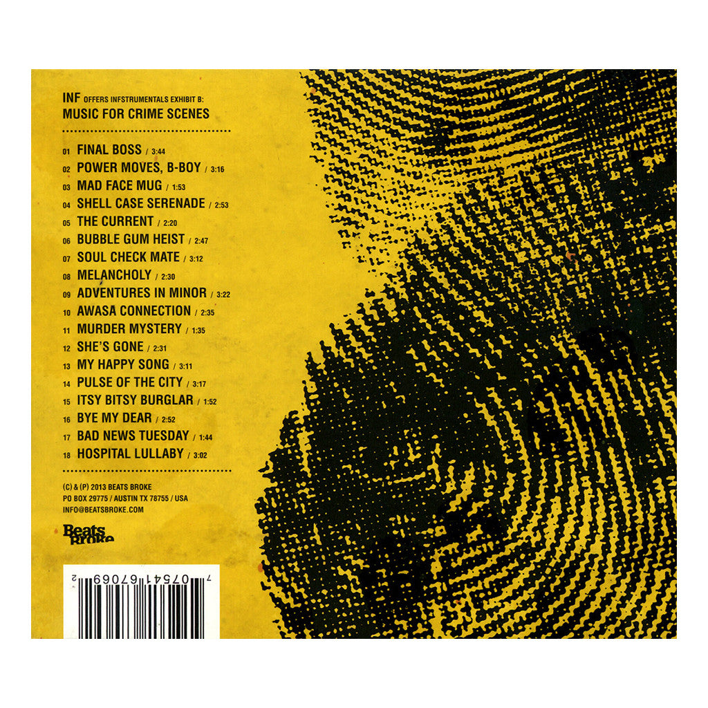 <!--120131203061031-->Inf - 'Music For Crime Scenes' [CD]