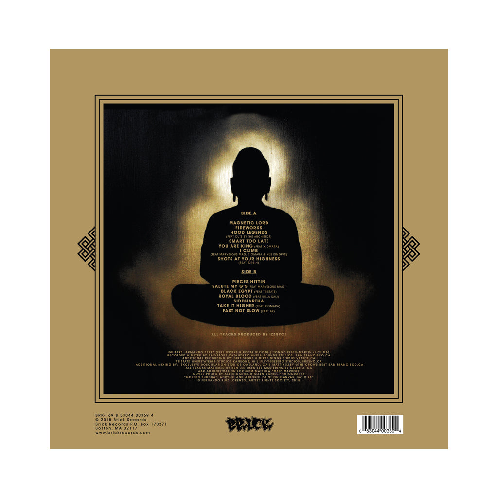 Planet Asia - 'The Golden Buddha' [(Black) Vinyl LP]