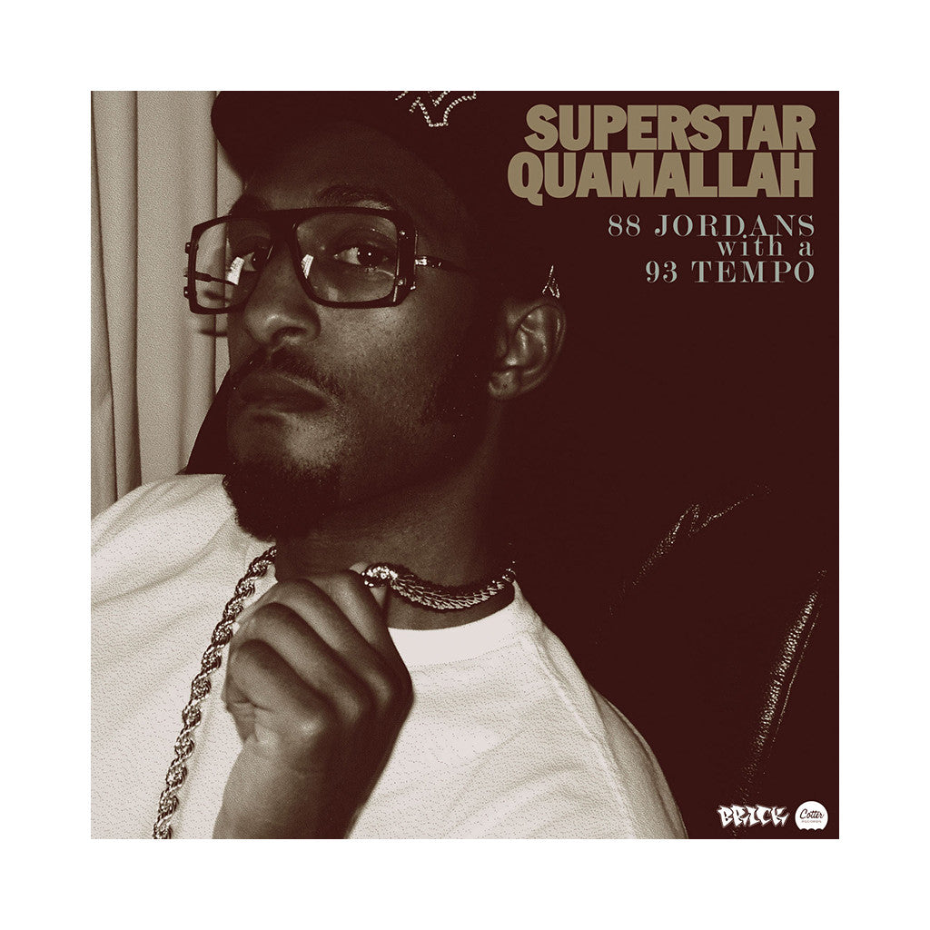 "Superstar Quamallah - '88 Jordans With A 93 Tempo EP' [(Black) 7"" Vinyl Single]"