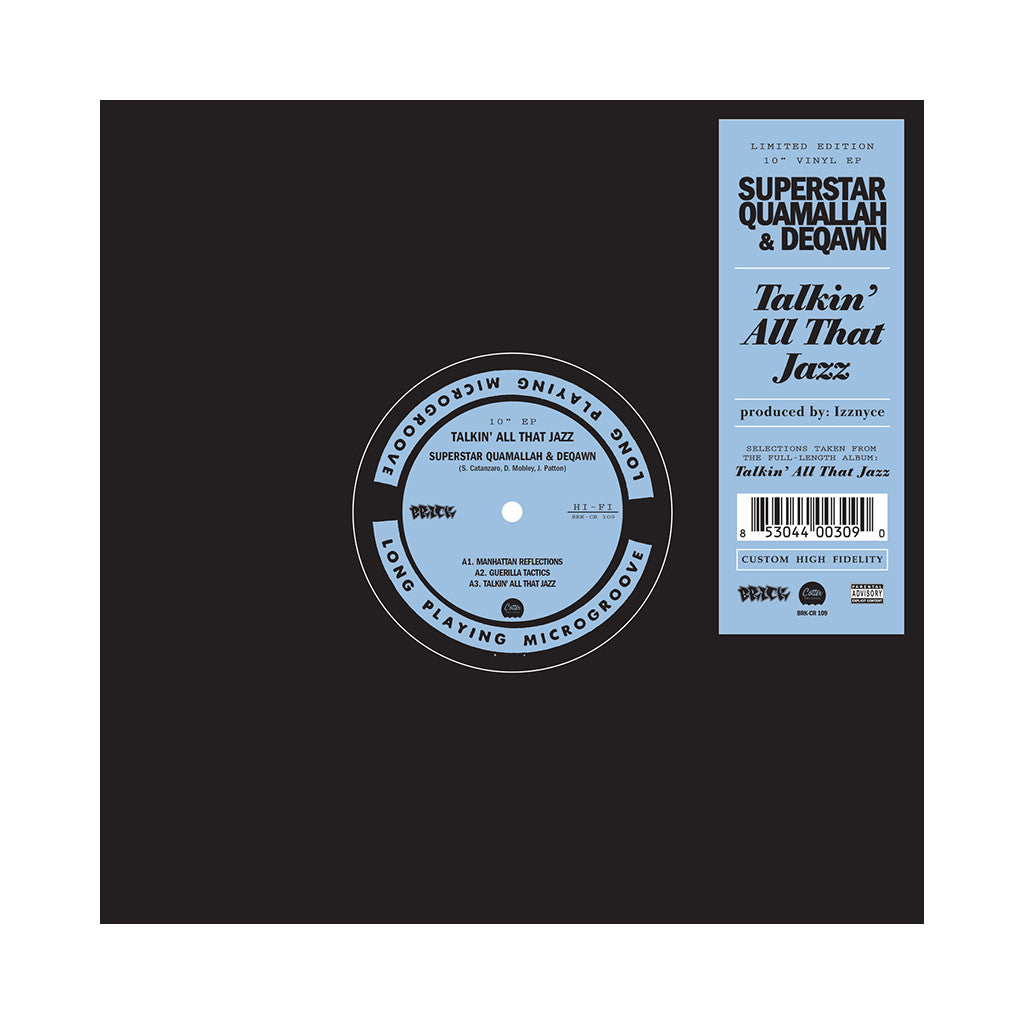 "Superstar Quamallah & Deqawn - 'Talkin' All That Jazz EP' [(Black) Vinyl [10""]]"