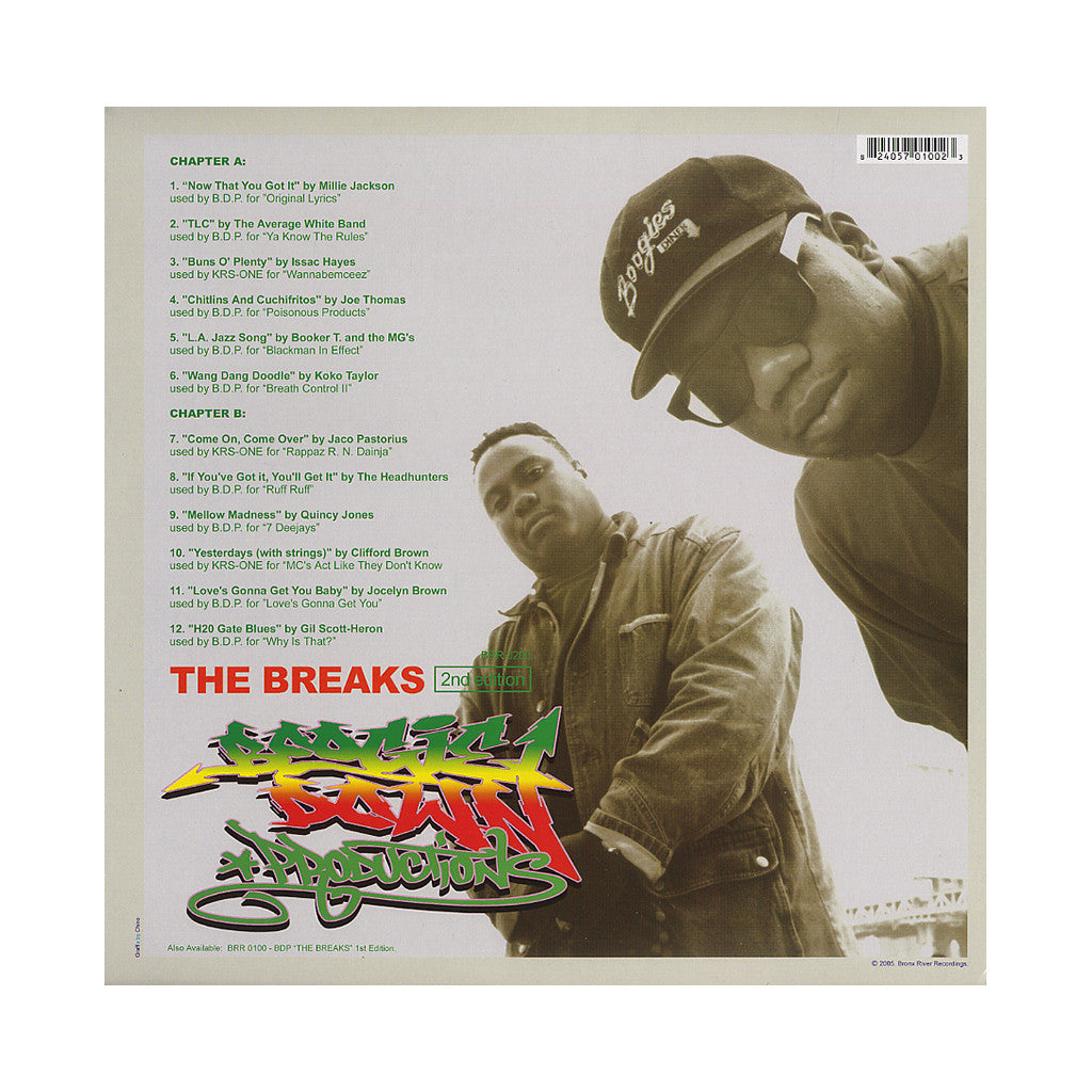 <!--020051115006151-->Boogie Down Productions - 'The Breaks: 2nd Edition (Original Samples)' [(Black) Vinyl LP]