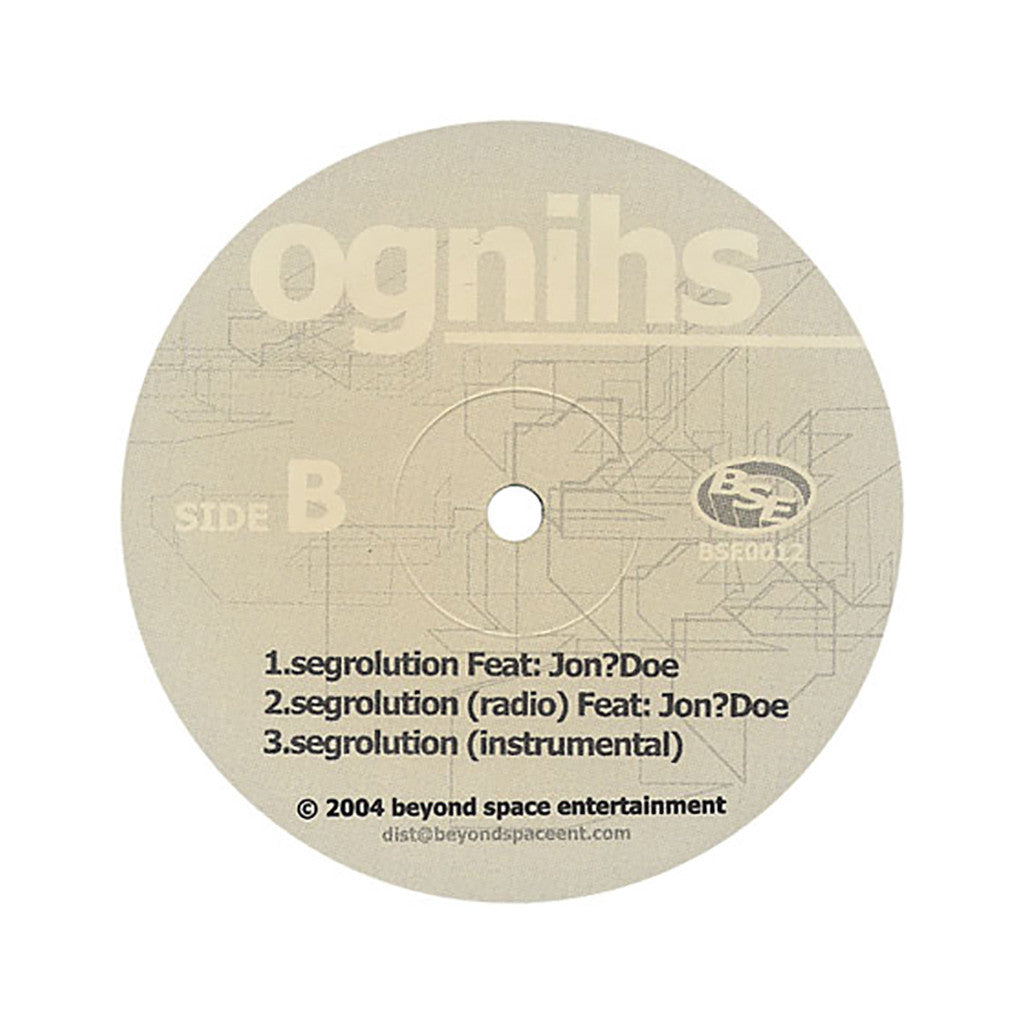 "<!--2004090323-->Ognihs - 'Circa '76/ In Loving Memory Of/ Segrolution' [(Black) 12"" Vinyl Single]"