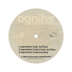 "<!--020040903011775-->Ognihs - 'Circa '76/ In Loving Memory Of/ Segrolution' [(Black) 12"""" Vinyl Single]"