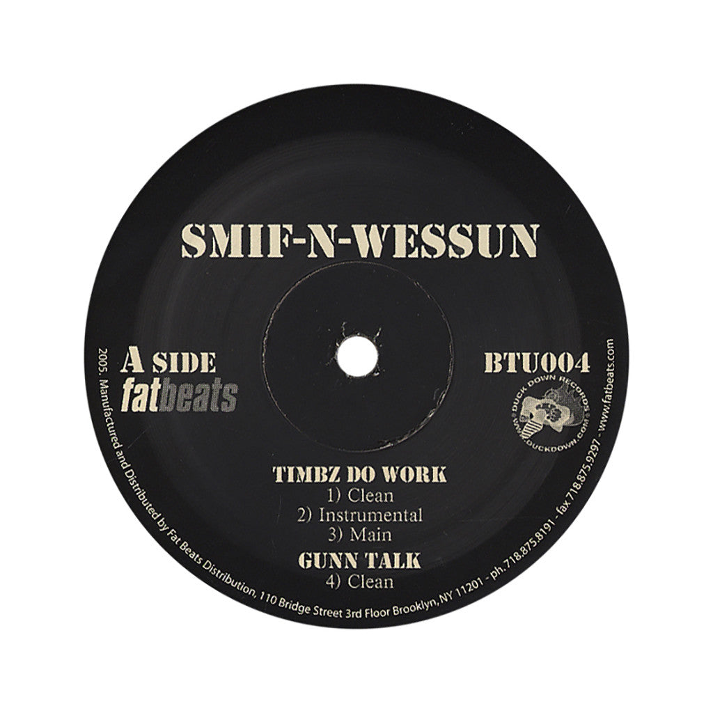 "<!--020051101005907-->Smif-N-Wessun - 'My Timbz Do Work/ Gunn Rap/ Reloaded/ Get Back' [(Black) 12"" Vinyl Single]"