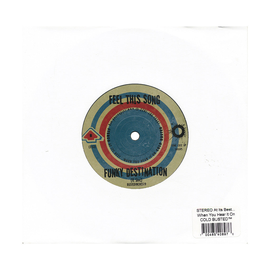 "<!--020140812064701-->Funky Destination - 'Mama Used To Tell Me/ Feel This Song' [(Black) 7"" Vinyl Single]"