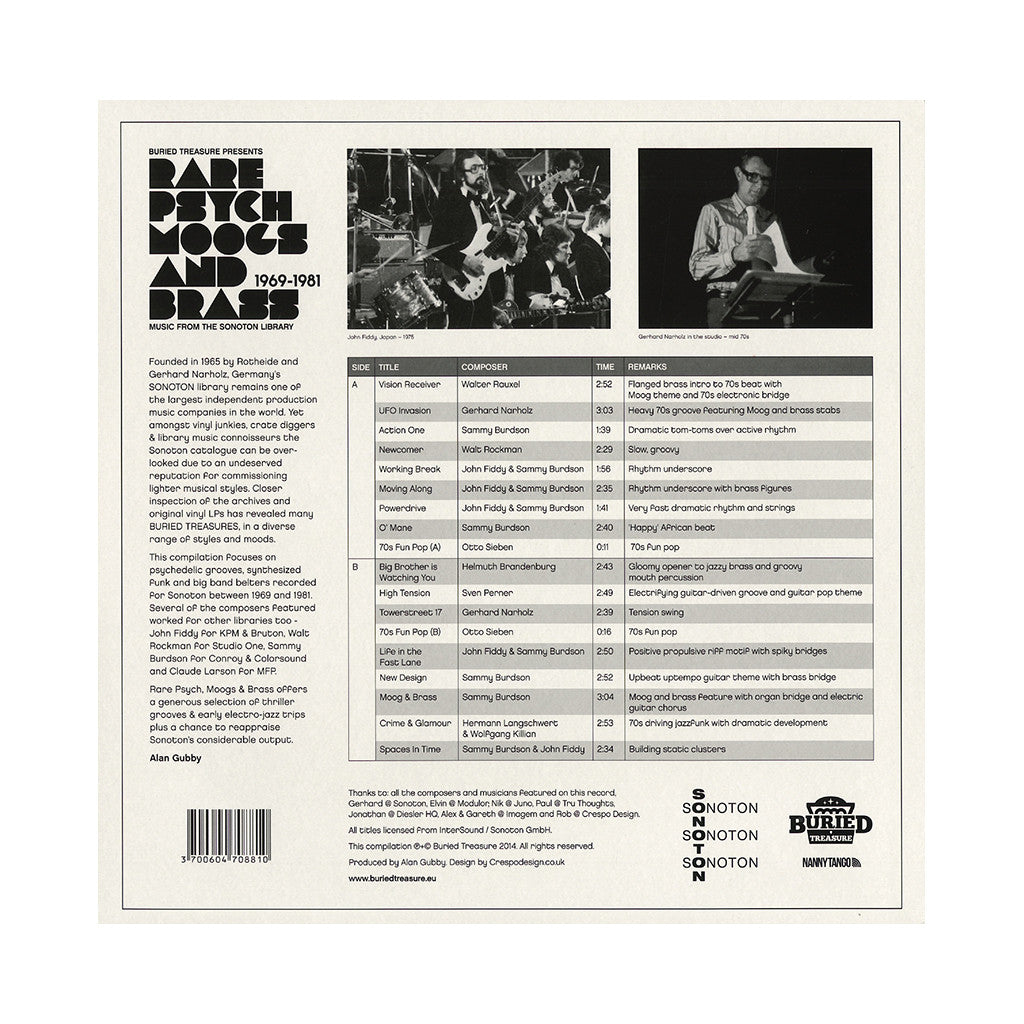 <!--2014071543-->Various Artists - 'Rare Psych Moogs And Brass From The Sonton Library: 1969-1981' [(Black) Vinyl LP]