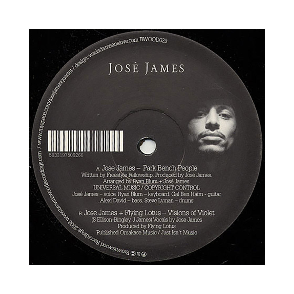 "Jose James - 'Park Bench People/ Visions Of Violet' [(Black) 12"" Vinyl Single]"