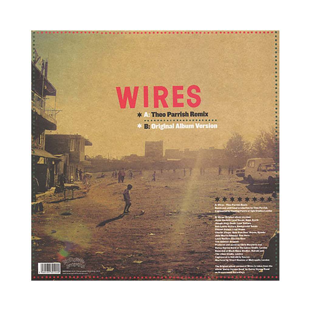 "<!--020110517029477-->Owiny Sigoma Band - 'Wires (Theo Parish Remix)/ Wires' [(Black) 12"" Vinyl Single]"