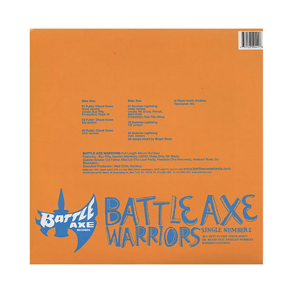 "Battle Axe Warriors - 'Puttin' Check Down/ Summer Lightning' [(Black) 12"" Vinyl Single]"