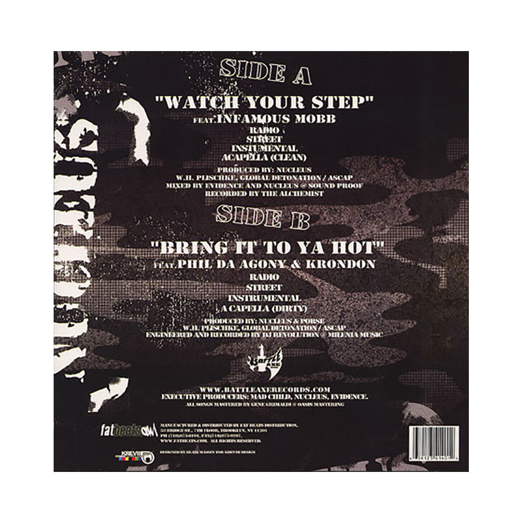 "<!--020031209018638-->Nucleus - 'Watch Your Step/ Bring It To Ya Hot' [(Black) 12"" Vinyl Single]"