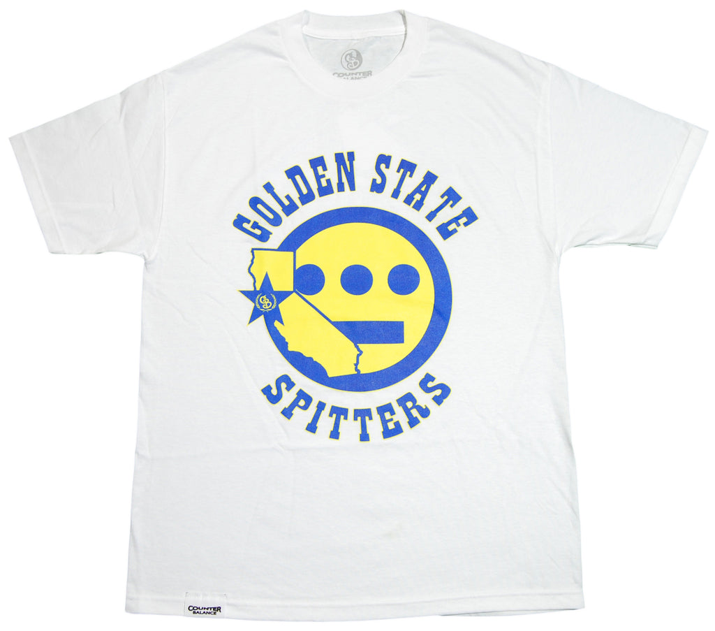 <!--2012032046-->Counter Balance Clothing x Hieroglyphics - 'Golden State Spitters' [(White) T-Shirt]
