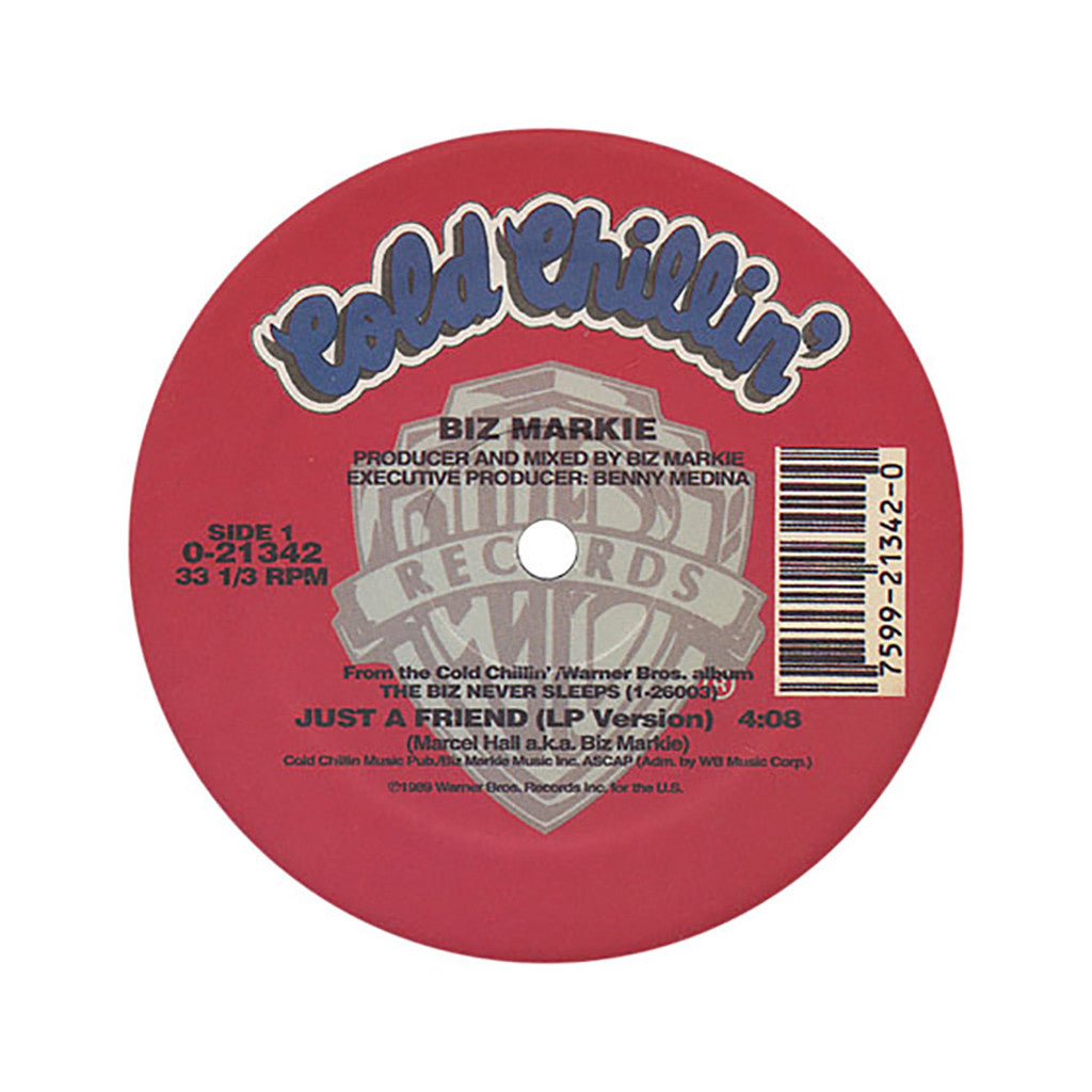 "Biz Markie - 'Just A Friend' [(Black) 12"" Vinyl Single]"