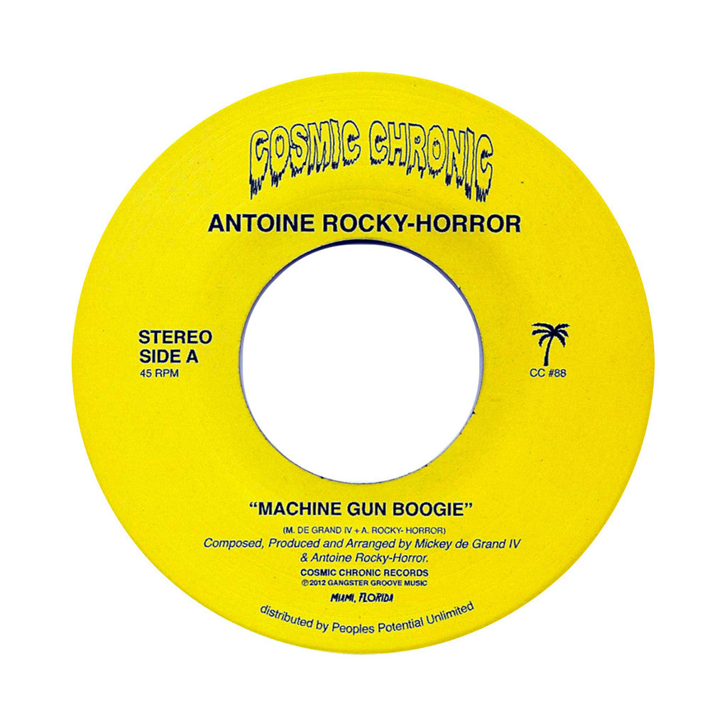 "Antoine Rocky-Horror - 'Machine Gun Boogie/ Sophia' [(Black) 7"" Vinyl Single]"
