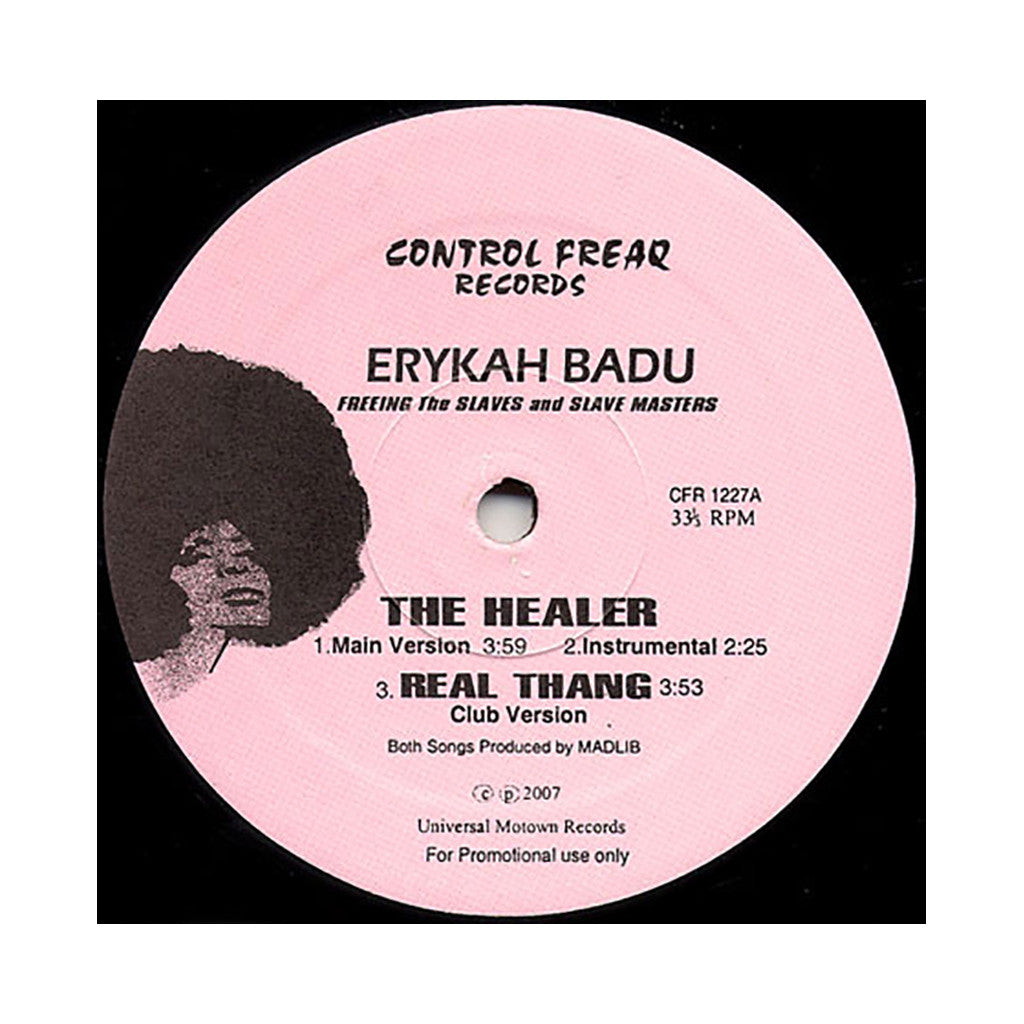 "<!--020070515013913-->Erykah Badu - 'The Healer/ Real Thang (Club Version)' [(Black) 12"" Vinyl Single]"