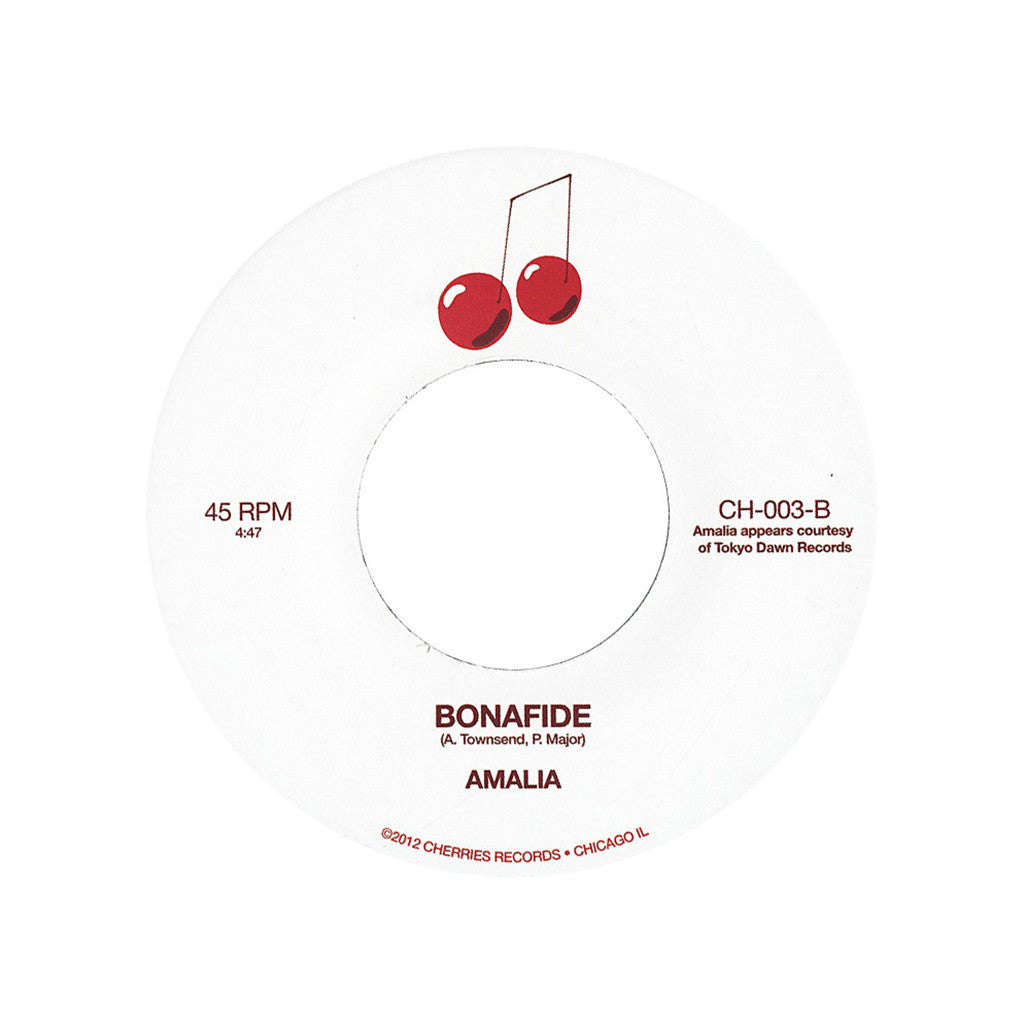 "<!--020130212053675-->Amalia - 'Welcome To Me/ Bonafide' [(Black) 7"""" Vinyl Single]"