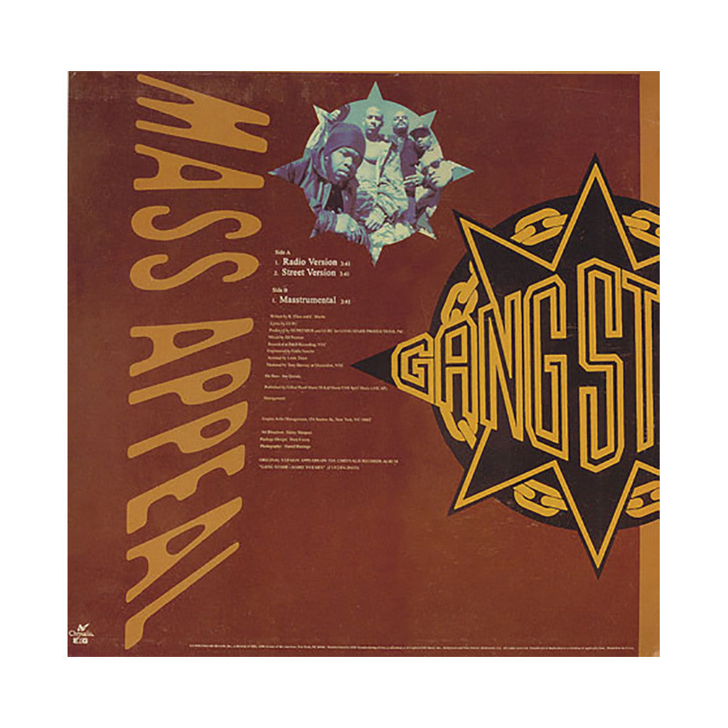 "Gang Starr - 'Mass Appeal' [(Black) 12"" Vinyl Single]"