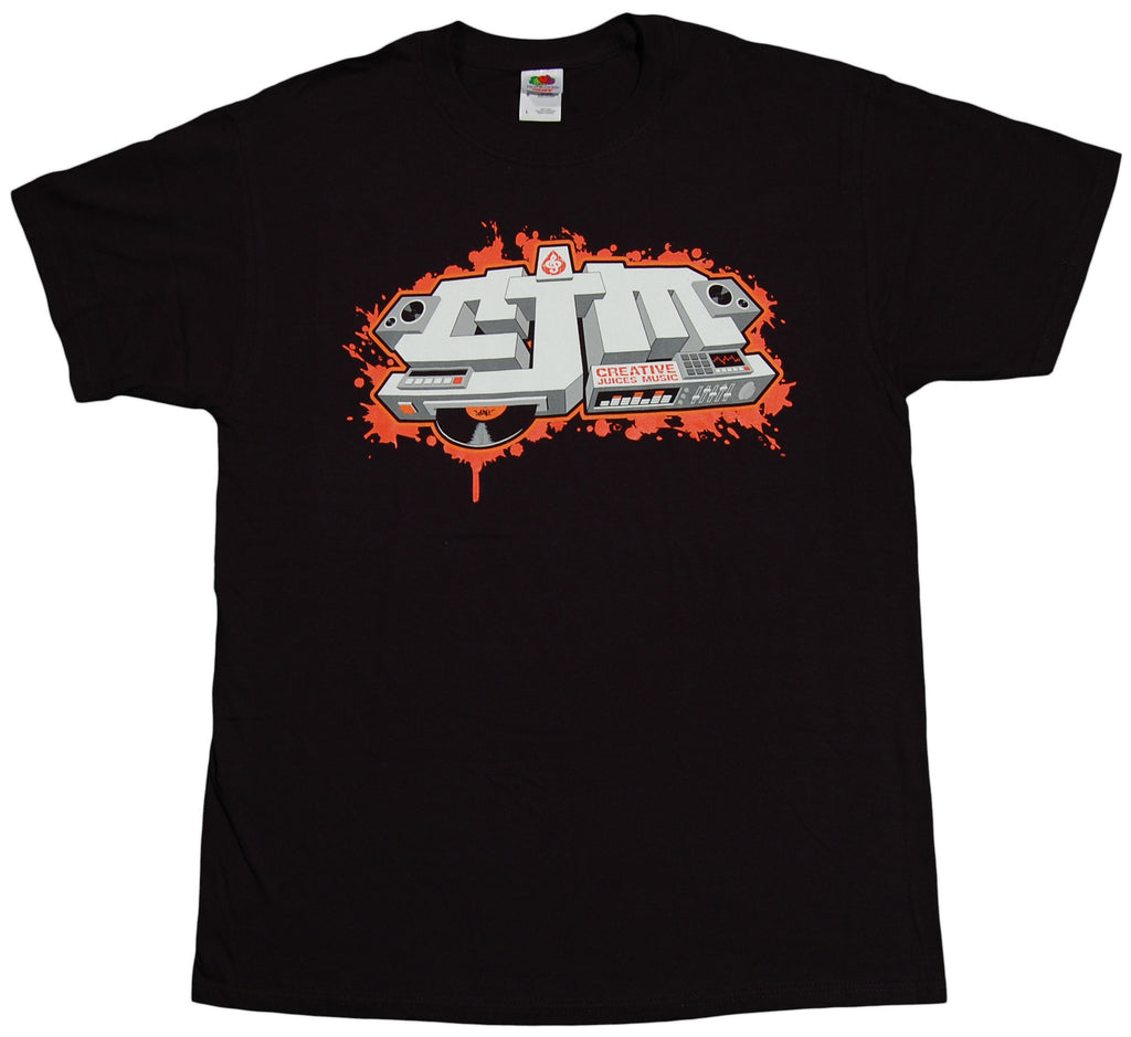 <!--2011091311-->Creative Juices Music - 'Logo' [(Black) T-Shirt]