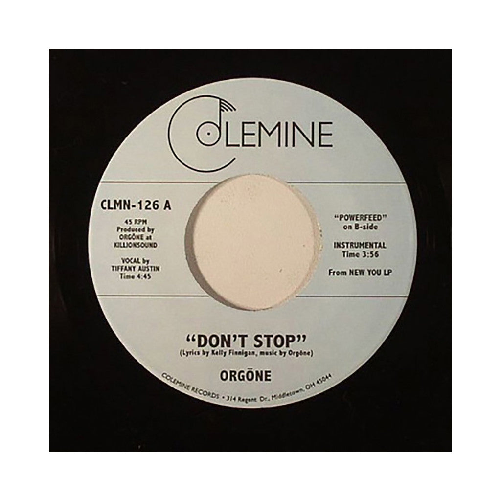 "<!--2014080540-->Orgone - 'Don't Stop' [(Black) 7"" Vinyl Single]"
