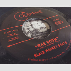 "Black Market Brass - 'War Room/ Into The Thick' [(Red & Black) 7"" Vinyl Single]"