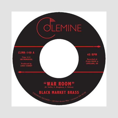 "[""Black Market Brass - 'War Room/ Into The Thick' [(Red & Black) 7\"" Vinyl Single]""]"