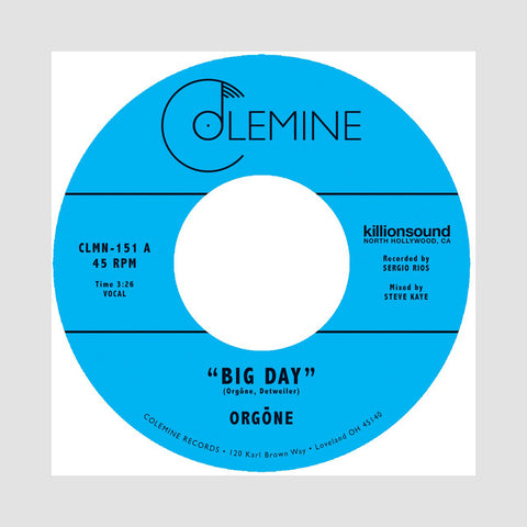 "[""Orgone - 'Big Day/ Hound Dogs' [(Gold) 7\"" Vinyl Single]""]"