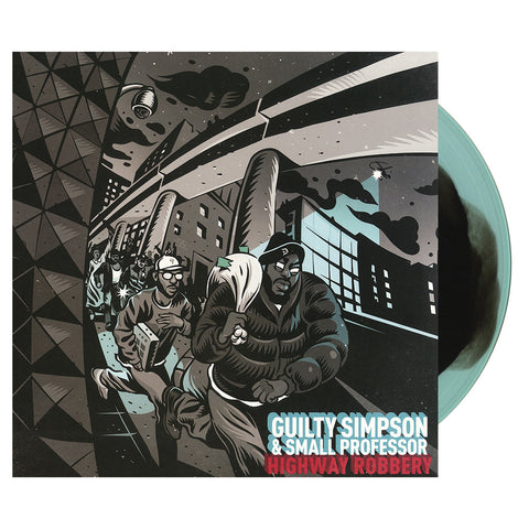 "[""Guilty Simpson & Small Professor - 'Highway Robbery' [(Turquoise & Black) Vinyl LP]""]"