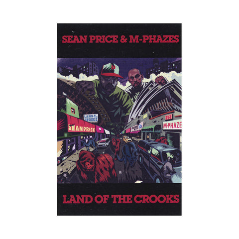 "[""Sean Price & M-Phazes - 'Land Of The Crooks' [(Black) Cassette Tape]""]"
