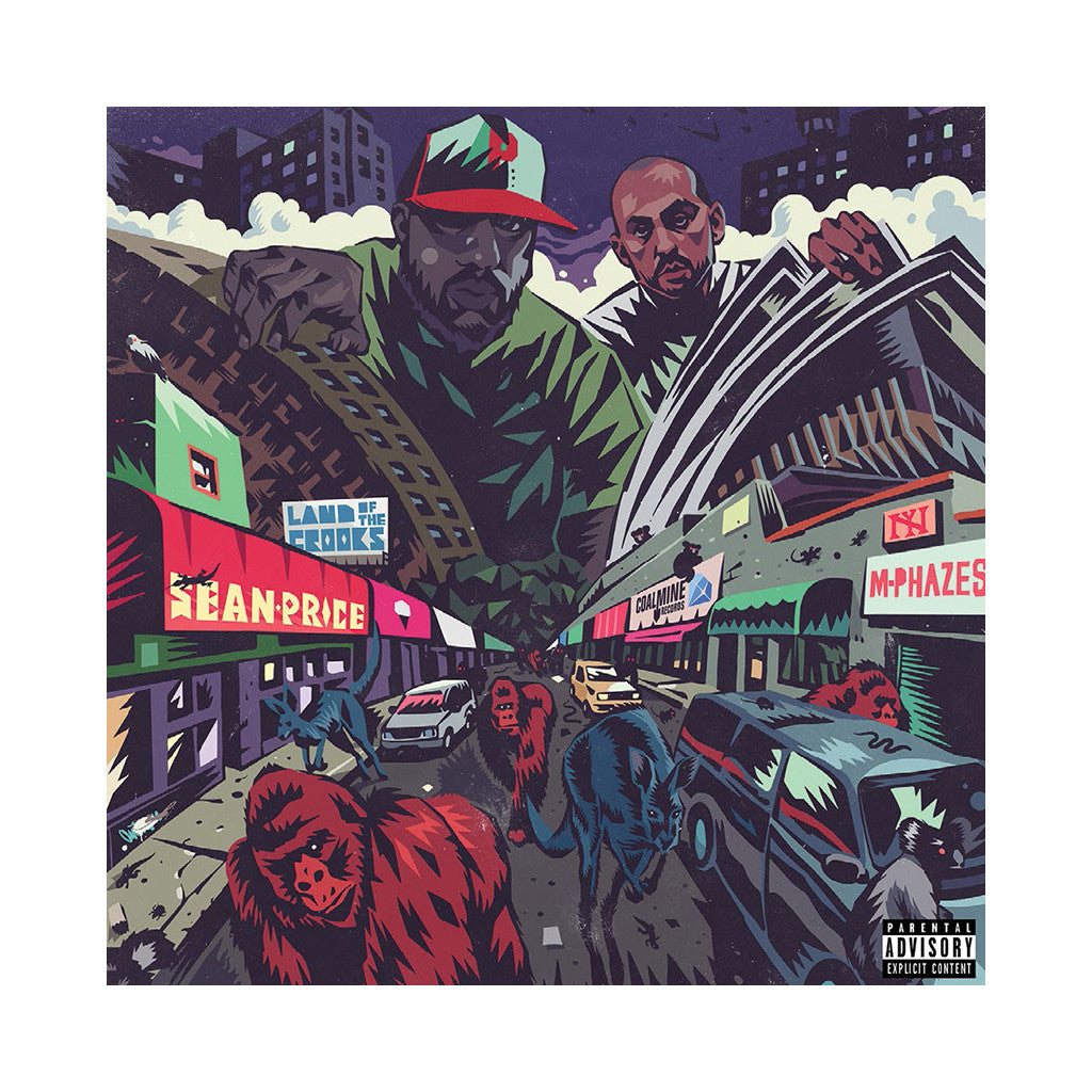 Sean Price & M-Phazes - 'Land Of The Crooks (Re-Issue)' [(Black) Vinyl EP]