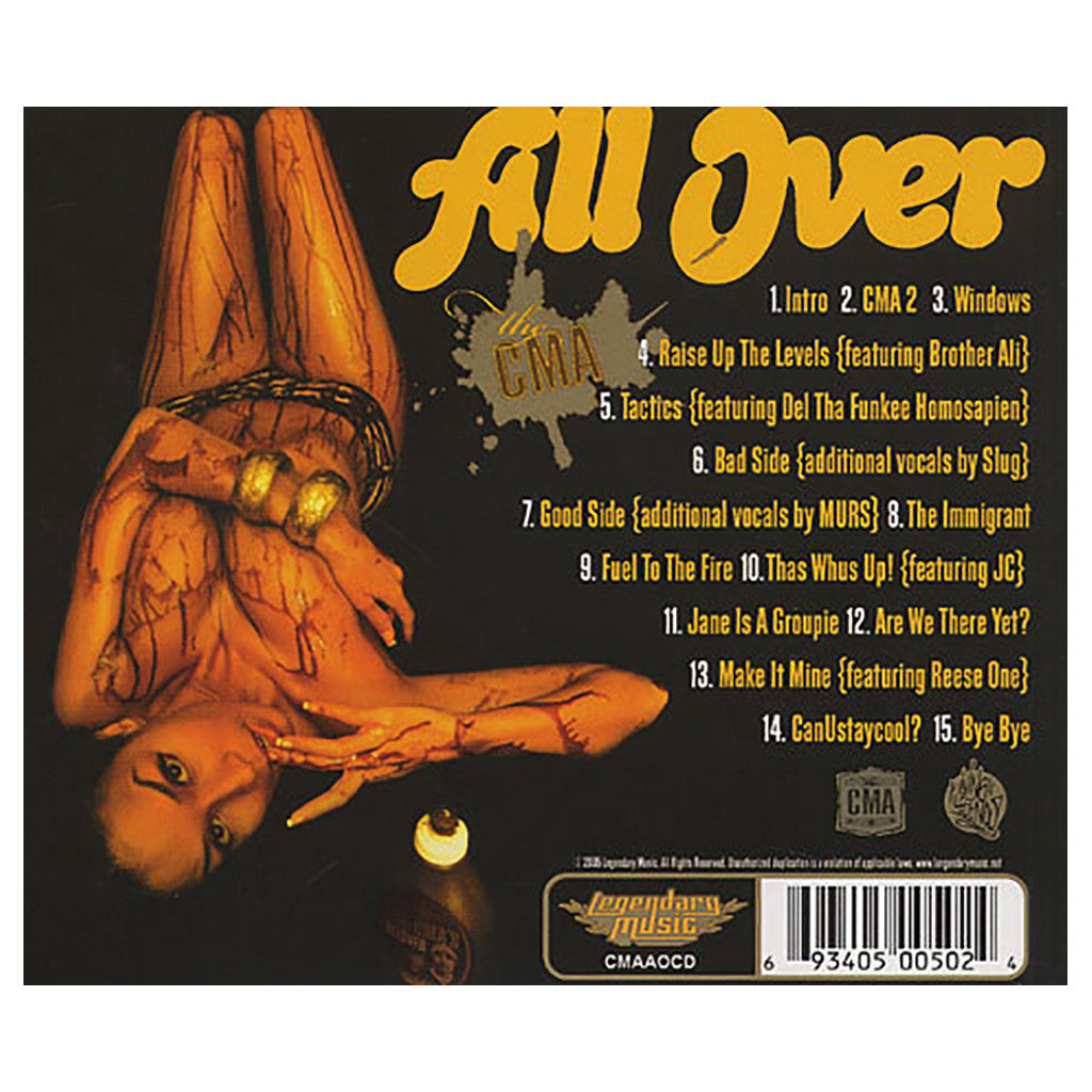 <!--2005011834-->CMA - 'All Over' [CD]